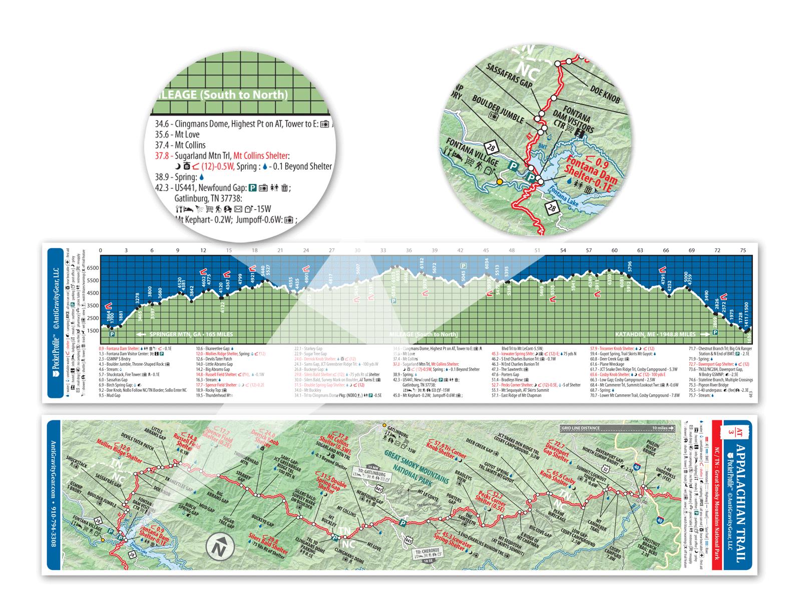 Data Book Maine Appalachian Trail Conservancy Map Set 7 maps + 1 Book