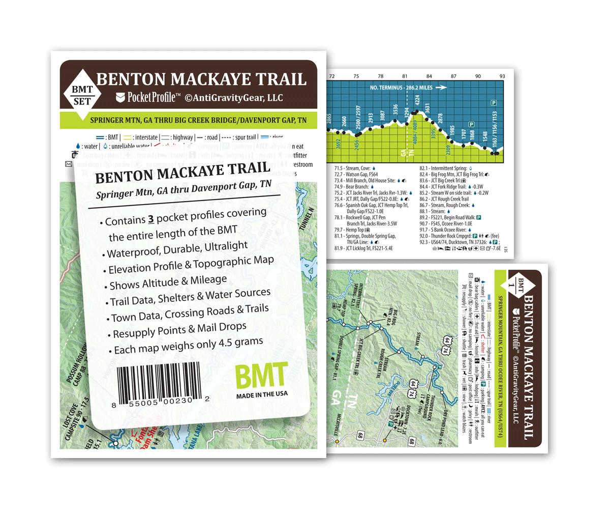 Benton Mackaye Trail Pocket Profile Set