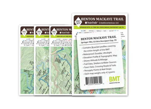 Benton Mackaye Pocket Profile Map Set