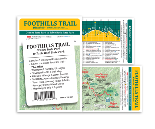 Pocket Profile Map Foothills Trail