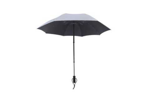 Swing Handsfree Telescoping Umbrella - Silver