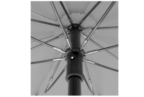 Swing Handsfree Telescoping Umbrella - Silver