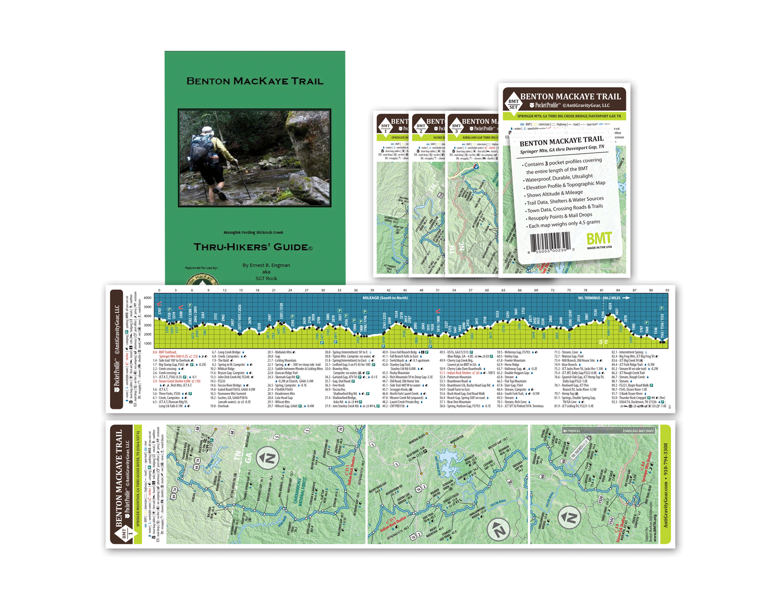 Benton MacKaye Trail Thru Hiker's Guide and Pocket Profile Set