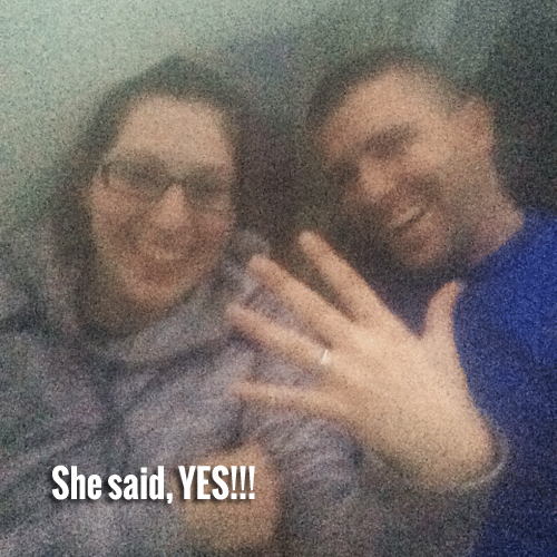 She said yes!